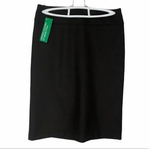 United Colors of Benetton pencil skirt NWT 2 brown